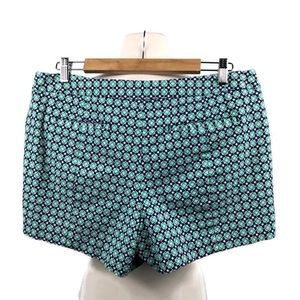 Green and Blue High Rise Shorts by Gap